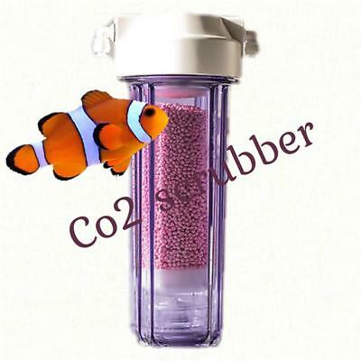 Aquarium co2 scrubber oxygen reactor reef tank media medical grade colour change