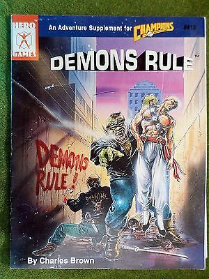 CHAMPIONS RPG Adventure DEMONS RULE Hero Games ICE with MAP 11100