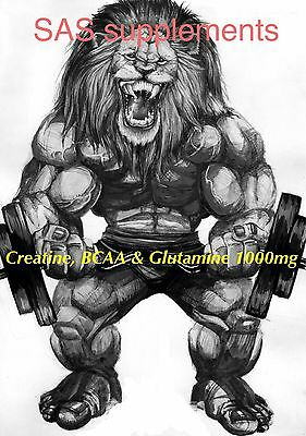 BCAA Creatine & Glutamine 1000mg  Tablets anabolic non steroid Muscle Growth