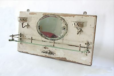 antique bathroom mirror cup toothbrush holder | san o la bathroom shelf vtg