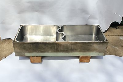 antique kitchen butler pantry german silver sink | elkay mfg monel s divider vtg