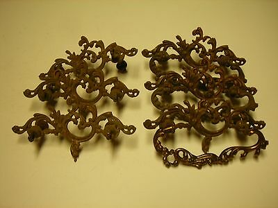 Antique brass drawer pulls  (2)