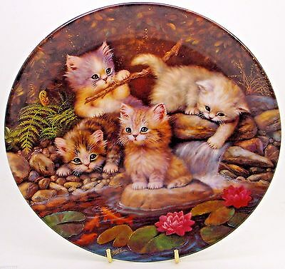 ~ Kittens ~ Am Seerosenteich ~ Fine Porcelain Cat Plate
