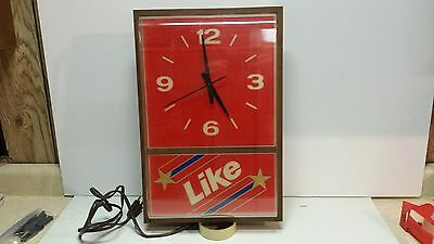 Like Soda by 7-up lighted clock sign