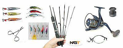 Silstar Carbon travel Spin & lure rod & Reel bundle -compact only 33.5cm
