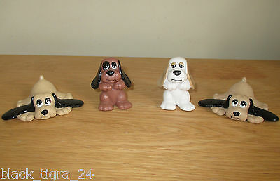 Rare Pound Puppies 1980's /1990's Plastic Figures X 4