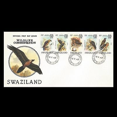 """Swaziland 1983 Wildlife Conservation - Bearded Vulture """"WWF"""" FDC b1"""