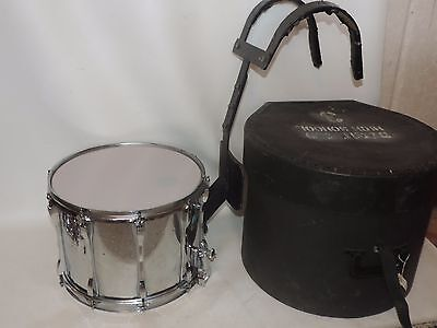 "Vintage Ludwig 14"" Chrome Over Wood Snare Drum with Carrier and Case #1857759"