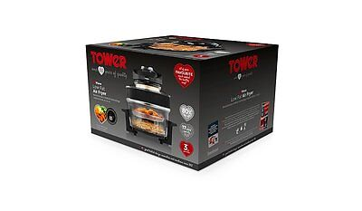 Tower T14001 Large 17L Airwave Low Fat Air Fryer Oil Free Healthy Halogen Cooker