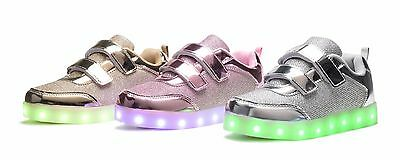 New Fashion Baby Toddler Girls Youth Kids Light Up Led Luminous Casual Shoes