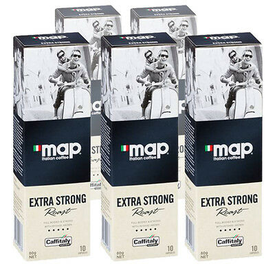 50 MAP Italian Coffee Pods - Extra Strong Roast - Caffitaly Capsules - Free Post