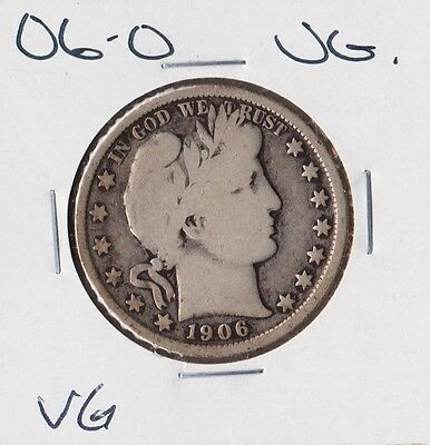 USA 1906-O | Barber Half Dollar 50 cents | VG