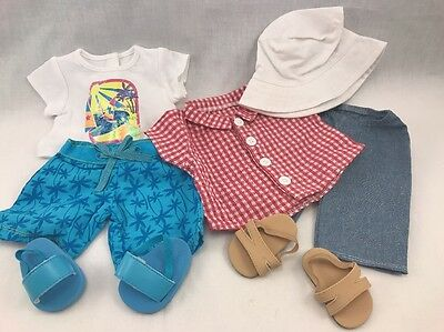 Authentic American Girl Bitty Twins Beachcomber Outfits,7 piece BNIP Retierd HTF