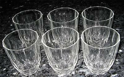 6 Retro Crystal Vintage Water/whiskey Glasses - Great Condition
