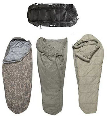 USGI 4 Piece Modular Sleep System ACU Digital Camo Sleeping Bag US Military