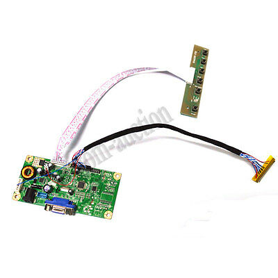 VGA LCD Controller Board Driver For HSD100IFW1-A00 HSD100IFW1-F01 30Pin 1024*600