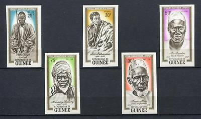 27413) GUINEA 1962 MNH** Nuovi** Heroes and martyrs of Africa 5v imperforated