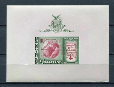 27534) GUINEA 1963 MNH** Nuovi** Red Cross Croce Rossa S/S