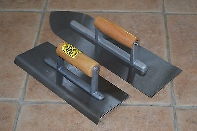 Concrete bull nose float and Edging trowel