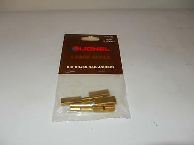 Lionel G Scale - 82102- Six Brass Rail Joiners - New- B10