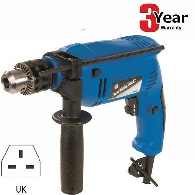 500W Variable Power Electric Hammer Action Power Drill - Steel Concrete & Wood