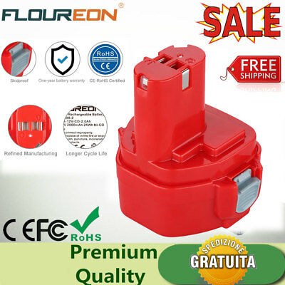 12V 2000mAh Ni-CD Batteria per MAKITA 1220 1222 1235 PA12 5093D 6217D 1050D IT