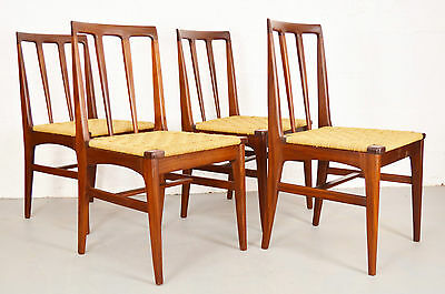 Retro Vintage Mid Century Danish Style Teak and Seagrass Chairs by Younger