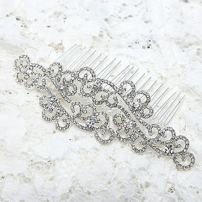 Vintage Style Motif Diamante Bridal Hair Comb Headpiece Wedding Hair Accessories