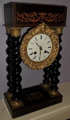 Good French Portico Mantle Clock By 'Japy Frères'