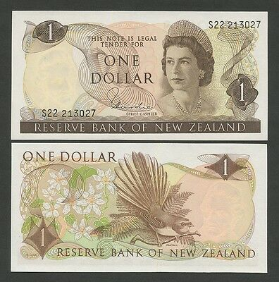 NEW ZEALAND - QEII  $1  1977  Hardie  P163d  Uncirculated  ( Banknotes )