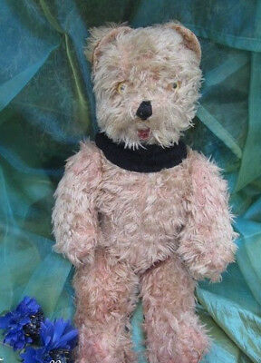 """♫ PELUCHE Vieil OURS """"éCiTell"""", Teddy Bear Antique, COLLECTION d'OURS Anciens ♫"""