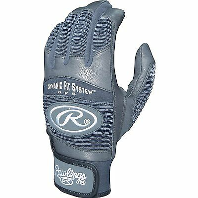 New Rawlings Workhorse 950 Batting Gloves - Gray - Adult