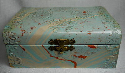 Antique VICTORIAN Child's Jewelry Box with Mirror