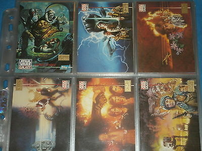 STAR WARS GALAXY Series 3: 1st Day Production Complete Base Set Of Trading Cards