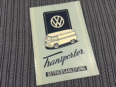 vw split bus barndoor 1950 very 1'st edition owners manual, mint condition RARE