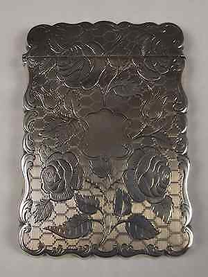Nathaniel Mills Birmingham 1849 Dated Victorian Silver Card Case