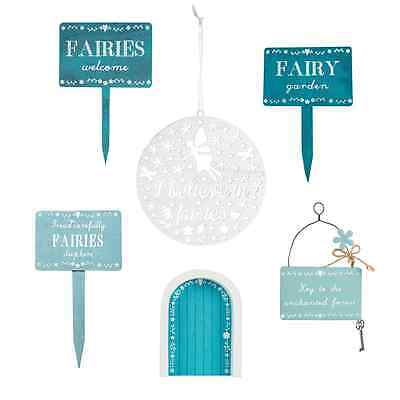 Wooden Signs Fairy Door Fairies Welcome Tread Carefully Believe Decorations Gift