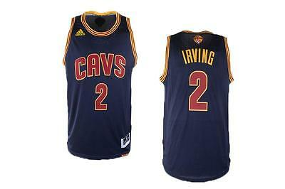 New Cleveland Cavaliers #2 Kyrie Irving finals Jersey Navy blue Size: S - XXL