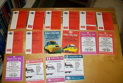 British Rail London To South & West Wales Timetables 1967/1985 (15)