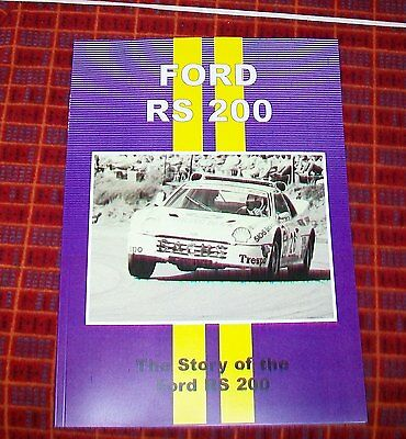 Ford Rs 200 Road Test & Magazine Article Reprint Book Rally Successes Rs200