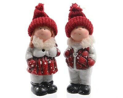 Pair Of Child Christmas Ornaments