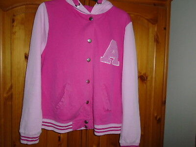 Girls pink long sleeve hooded jacket top (hoodie), PRIMARK, 11-12 years