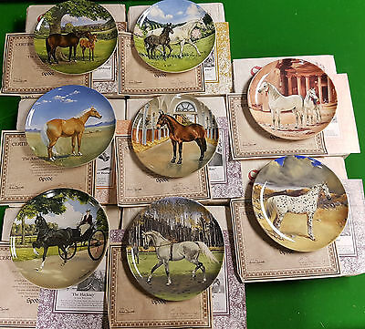 Full Set of 8 The Noble Horse by Susie Whitcombe Spode Plates Box COA
