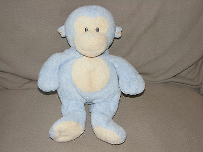 Ty Pluffies Blue Dangles Monkey Plush Sewn Eyes Baby Stuffed Animal Lovey 2007