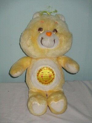 "Vintage Funshine Bear Care Bear Soft Plush toy. 1980s. 13"". Sun Symbol 1983"