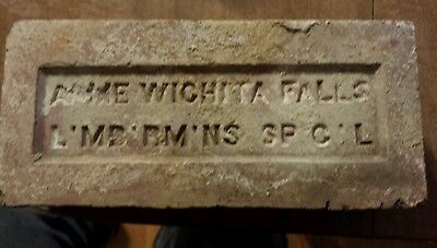 "Texas ""ACME WICHITA FALLS L'MB'RM'NS  SP'C'L"" stamped red brick Rare Special Buy"