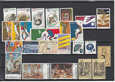 1974 Australia year collection. 26 stamps .MNH and  cheap
