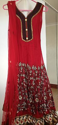 Red & Black Anarkali Suit