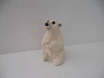 Polar Bear sitting Up From United Designs Stone Critter Collection