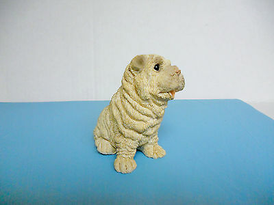 Shar Pei Puppy / Dog Sitting United Designs Stone Critter Babies Collection